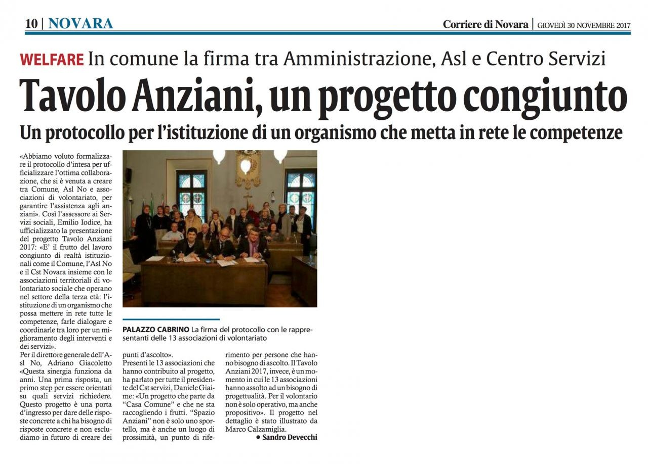 Corriere_di_Novara_10_30-11-2017-Giaime-Daniele-Presidente-del-Centro-servizi-volontariato-firma-il-protocollo-dintesa-Comune-e-Asl-per-il-Tavolo-Anziani