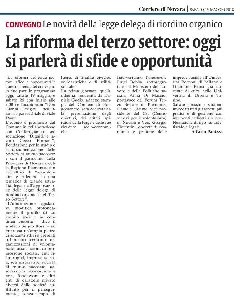 Corriere_di_Novara_26_19-05-2018-Giaime-Daniele-interverra-al-Convegno-sulla-Riforma-del-Terzo-Settore-come-Vice-Presidente-del-Centro-Servizi-Volontariato-Novara-e-Vco