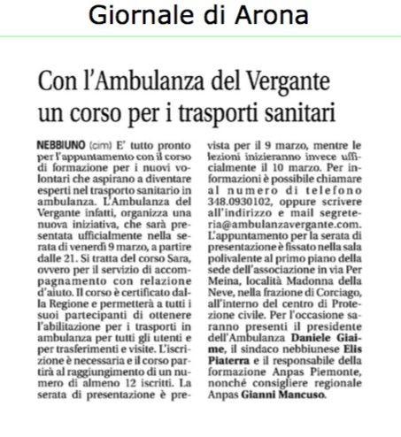 GiornaleArona-Corso-Sara-edizione-2018